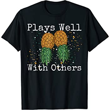 Amazon.com: Novelty Swingers Pineapple T-Shirt: Clothing