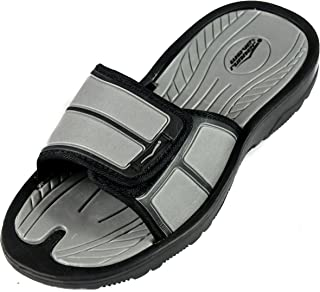 Best mens black slides Reviews