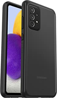 OtterBox för Samsung Galaxy A72, ultratunt skyddande skal, Sleek Case, Black Crystal Klar/Svart - Utan retailförpackning