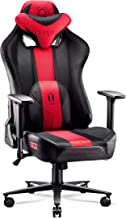 Diablo X-Player 2.0 Gaming Chair Office Desk Chair 3D Armrests Ergonomic Design Neck / - Lumbar Cushion (Anthracite-Crimson, Normal)