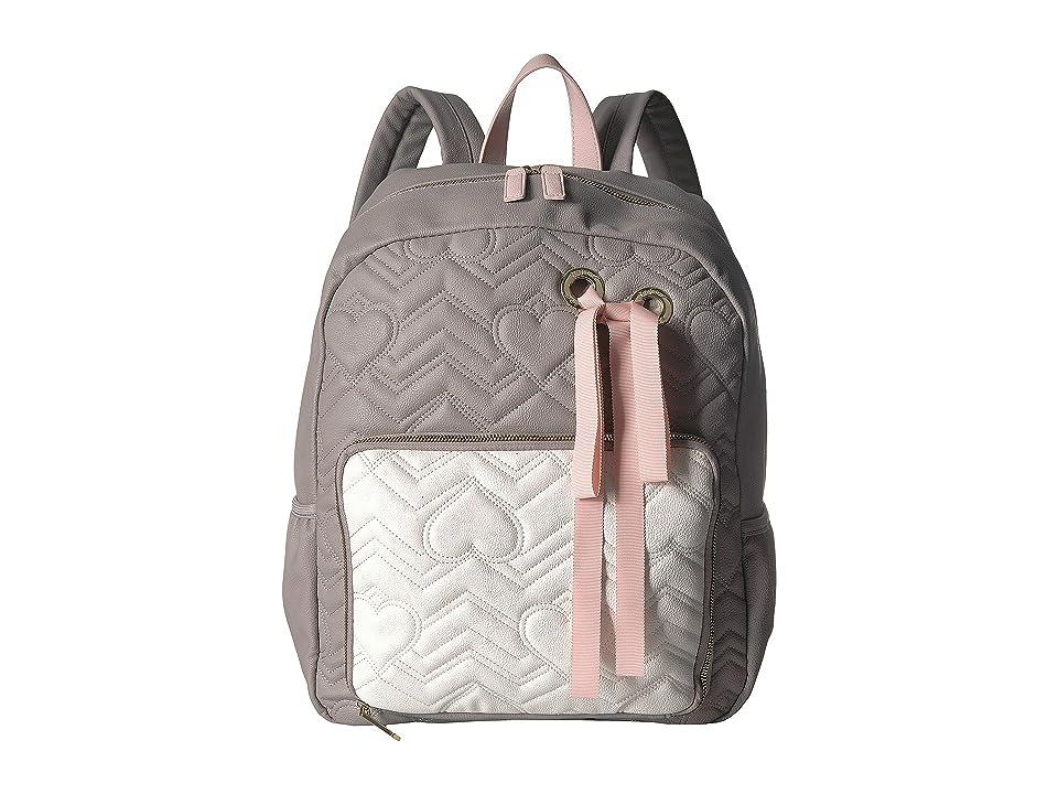 Betsey Johnson Ribbon Backpack (Grey Multi) Backpack Bags