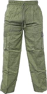 Gheri Light Cotton Loose Elastic Waist Summer Pocket Casual Lounge Wear Trousers Pant