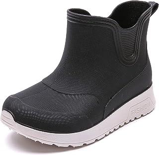 Vorgelen Botas de Agua para Niños y Niñas Impermeable y Antideslizante Caucho de PVC Botas de Lluvia Wellington para Unise...