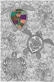 Great2bColorful Original Big Coloring Poster (24''x 36'') Sea Turtles