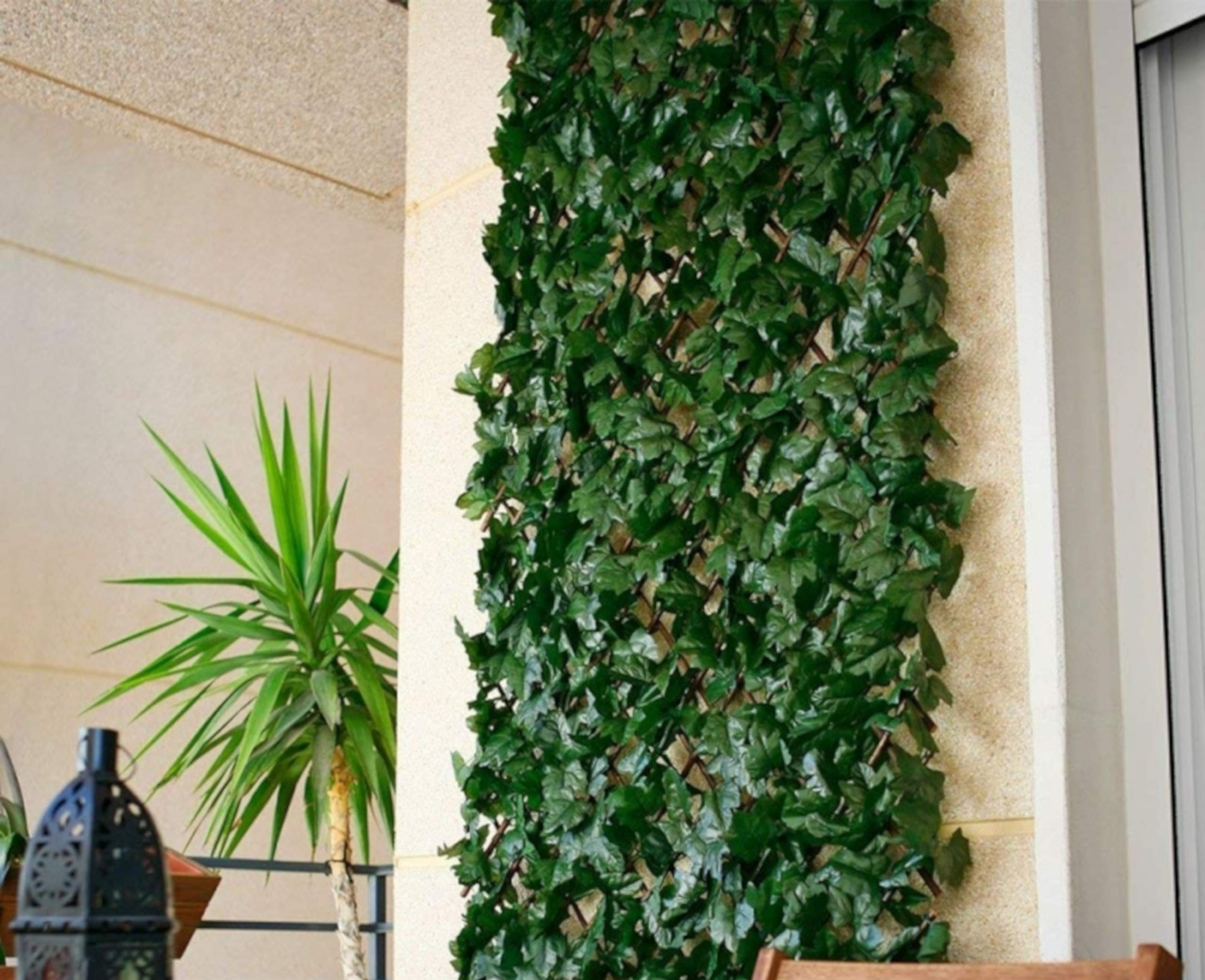 Comercial Candela Celosia Extensible de Mimbre Natural con Hojas de Hiedra 1x2 Metros: Amazon.es: Jardín