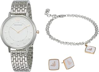 Emporio Armani Women's Two-Hand Silver-Tone Stainless Steel Watch AR80023