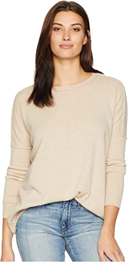 Cashmere Crew Neck Sweater with Raised Seam Detail