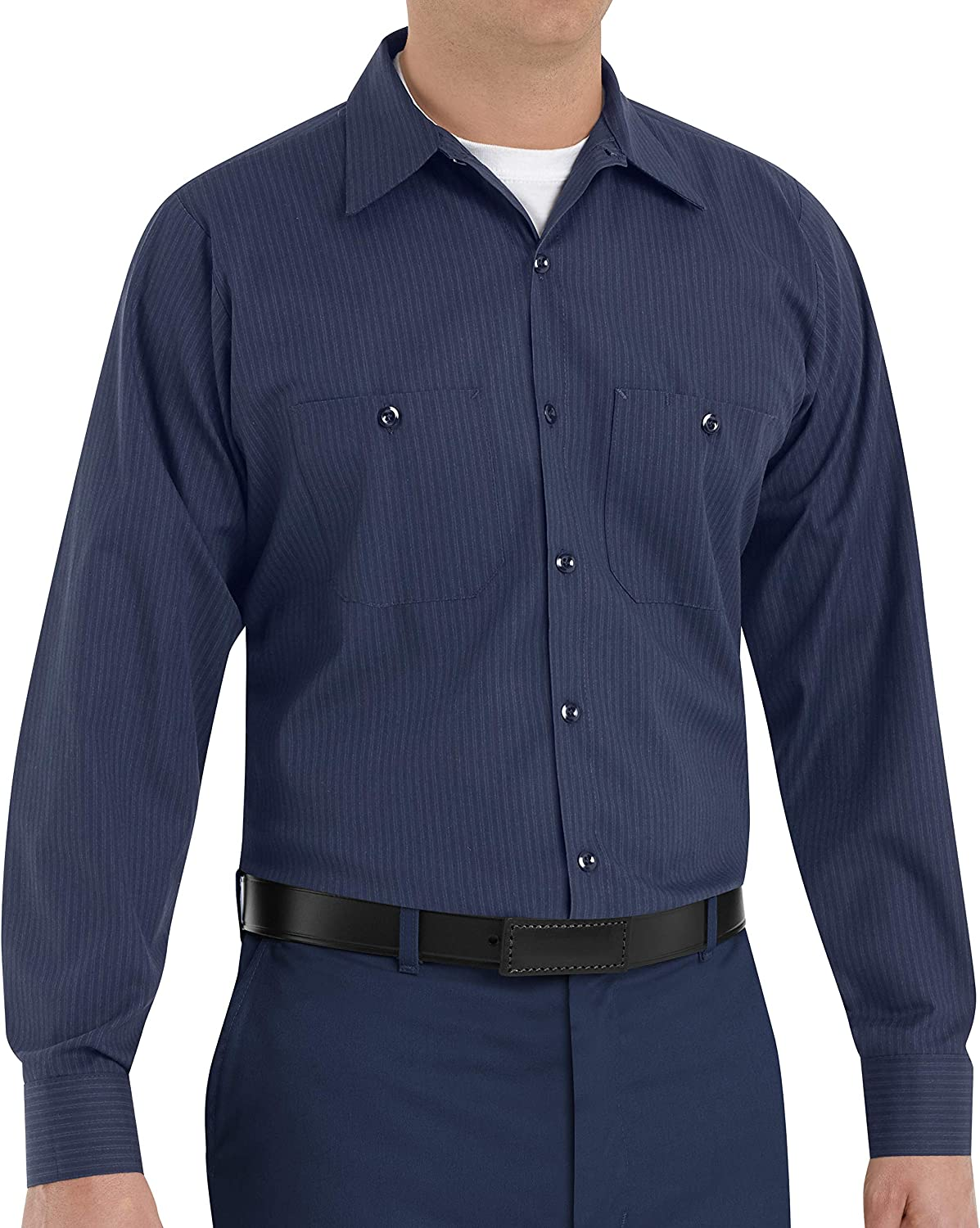 Red Kap mens Industrial Work Shirt With Pencil Stall