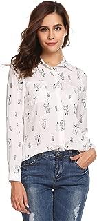 fox print blouse
