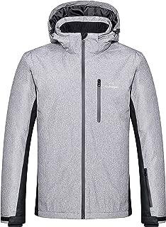 Golooper Snow Coat Mens Winter Jacket Waterproof Outwear with Detachable Hood