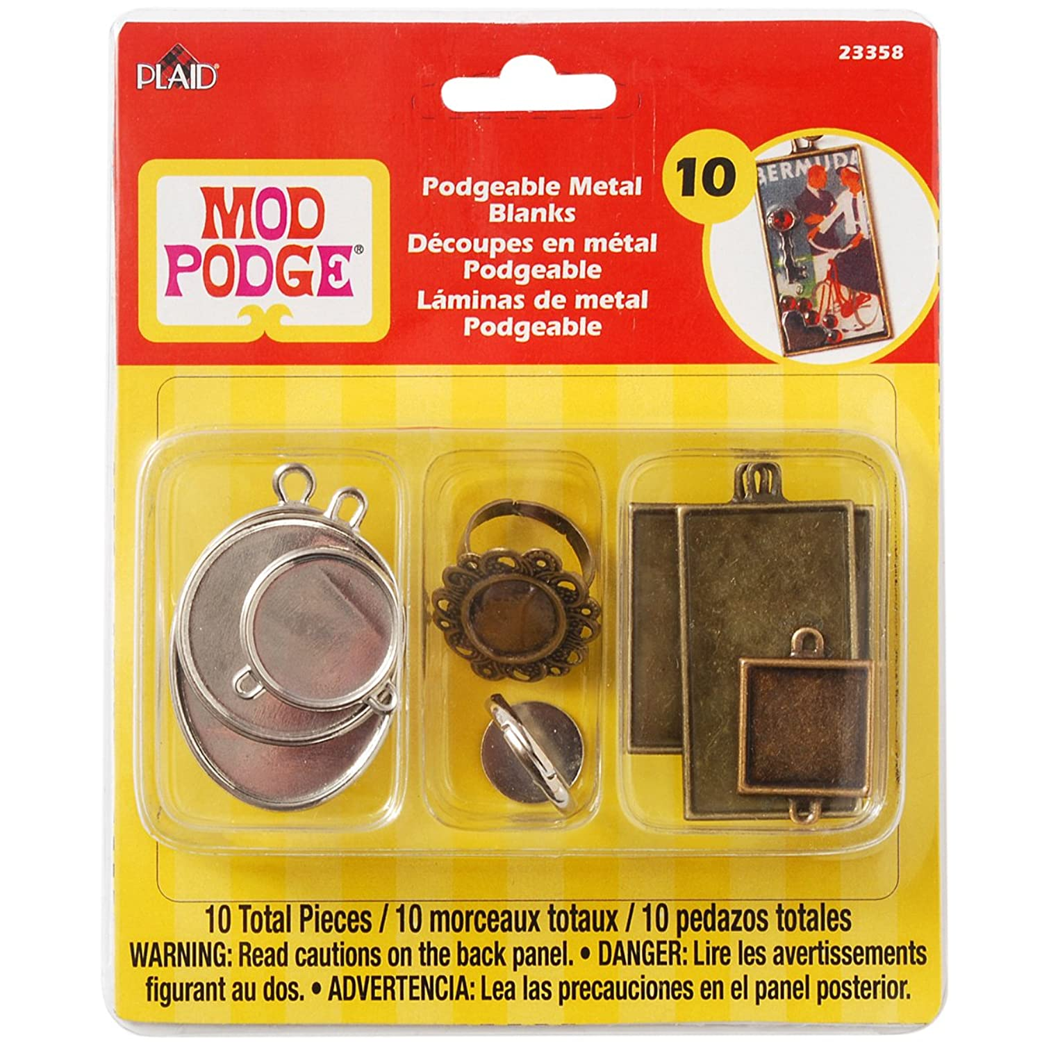 Mod Podge Podgeable Metal Blanks, 23358 (10-Pack)