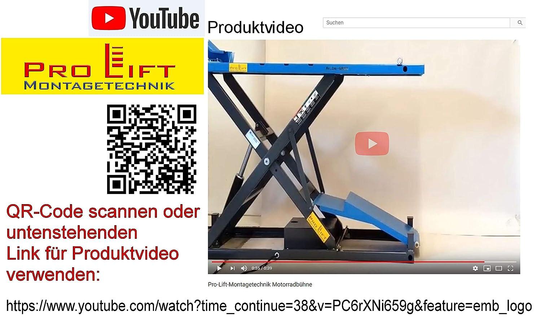 Pro Lift Montagetechnik 1000kg Scherenbühne Motorradhebebühne Elektroantrieb Mlp100hej 02222 Baumarkt