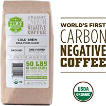 Tiny Footprint Coffee - Organic Cold Brew Cold Press Elixir | Ground Coffee | USDA Organic | Carbon Negative | 16 Ounce