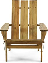Christopher Knight Home 312649 Aberdeen Outdoor Contemporary Acacia Wood Foldable Adirondack Chair, natural stained