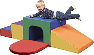 ECR4Kids SoftZone Single Tunnel Maze - Beginner Toddler Climber for Safe Active Play- Fun Early Development Obstacle Toy