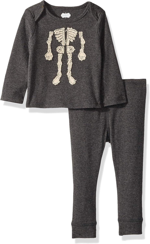 Mud Pie baby-boys Halloween Skeleton 2 Piece Long Sleeve Playwear Set