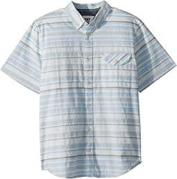 Connections Woven Top Short Sleeve (Big Kids)