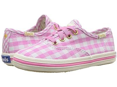 Keds x kate spade new york Kids Champion Seasonal (Toddler) (Pink Gingham) Girls Shoes