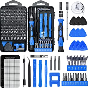 KALAIDUN 138 In 1 Precision Screwdriver Sets Diy Repair Kit, Screwdriver Tool Kit Suitable For Iphones,tablets,watches,cameras,nintendo Repairs Etc.with Mini Wrench And Stripped Screw Remover.(BLUE )