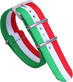 Multicolor Classic Stylish Nylon NATO Style Watch Straps Bands Replacements for Men Women