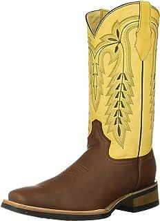 حذاء فيرني الغربي من جلد البقر للرجال