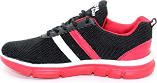 Runfast Kids 03 Sports, Fitness, Walking & Running Shoes for Kids Unisex,Boys & Girls (Black-Red) Size-2-5