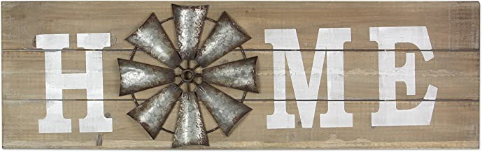 "Young's 38.25"" x 1.5"" x 11.75"" Inc Wood Windmill Home Sign"