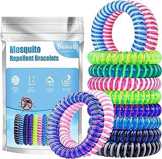 Beikell [Lot de 12] Bracelet Anti-Moustique, Bracelets Anti-Moustiques Naturel- 100%..