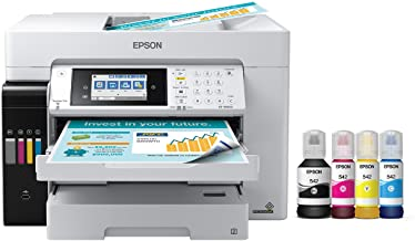 Epson EcoTank Pro ET-16650 Wireless Wide-Format Color All-in-One Supertank Printer with Scanner, Copier, Fax and Ethernet ...