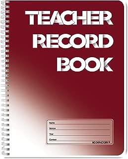 "BookFactory Teacher's Planner/Teachers Lesson Planner Notebook/Record Book/Organizer/Calendar/Grades/Seating - 170 Pages - 8.5"" X 11"" Wire-O (JOU-170-7CW-A(TeacherRecordBook))"
