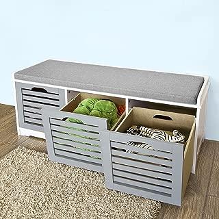 Best storage drawer bench Reviews