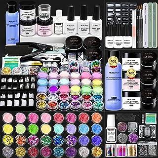 Morovan Acrylic Nail Kit,Acrylic Powder and Liquid Monomer Set with Acrylic Nail Brush Glitter Nail Tips and Other Basic N...