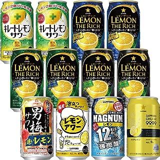 【Amazon.co.jp限定】 こだわりのレモンサワー8種12本セット [ チューハイ 350ml×12本 ]