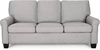 Christopher Knight Home Bridget 3-Seater Sofa, Traditional, Grey, Gray + Dark Brown