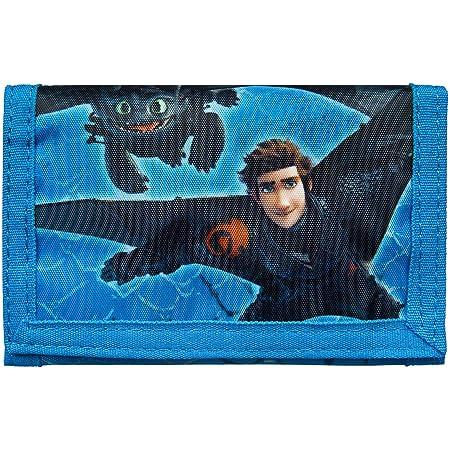 Undercover Geldbörse, Dreamworks Dragons, ca. 8 x 13 0,5 cm Portamonete, cm, Blu (Blau)