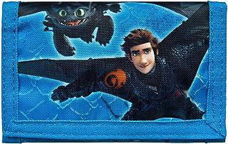 Undercover Geldbörse, Dreamworks Dragons, ca. 8 x 13 0,5 cm Porte-Monnaie, cm, Bleu (Blau)