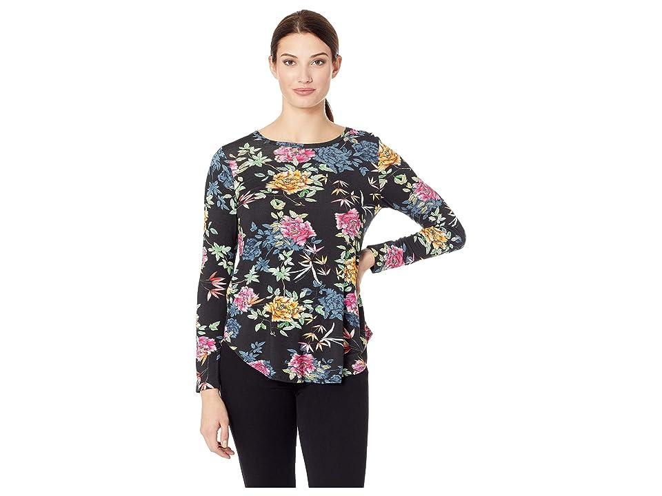 Karen Kane Shirttail Tee (Floral) Women