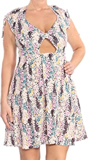 Womens Miss Right Floral Casual Skater Dress