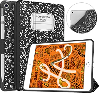 Soke iPad Mini 5 Case 2019 with Pencil Holder, Premium Trifold Case with Strong Protection, Ultra Slim Soft TPU Back Cover with Auto Sleep/Wake Function for Apple iPad Mini 5th Gen,Book Black