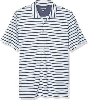 Amazon Essentials Men's Regular-Fit Stripe Jersey Polo