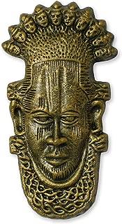 NOVICA 162497 Chiefs Yoruba Ceramic Mask