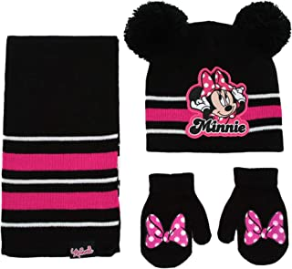 Girls Winter Hat, Minnie Mouse Kids Beanie, Scarf, and...