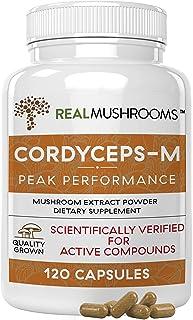 (120 Capsules) - Organic Cordyceps Mushroom Capsules by Real Mushrooms - 120 Capsules of Extract Powder