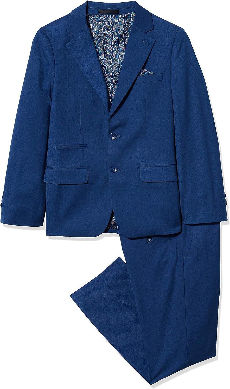 New product Isaac Mizrahi Boys 2-Piece Price reduction Slim Blend Sizes Wool Suit-Husky Cut