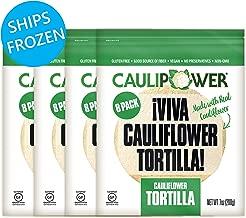 CAULIPOWER Original Cauliflower Tortillas   Certified Gluten-free   Non-GMO   Frozen   32 Pack
