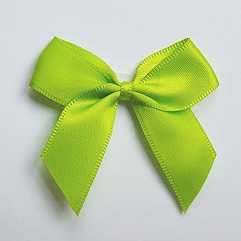5cm Satin Bows Self Adhesive Moss Green