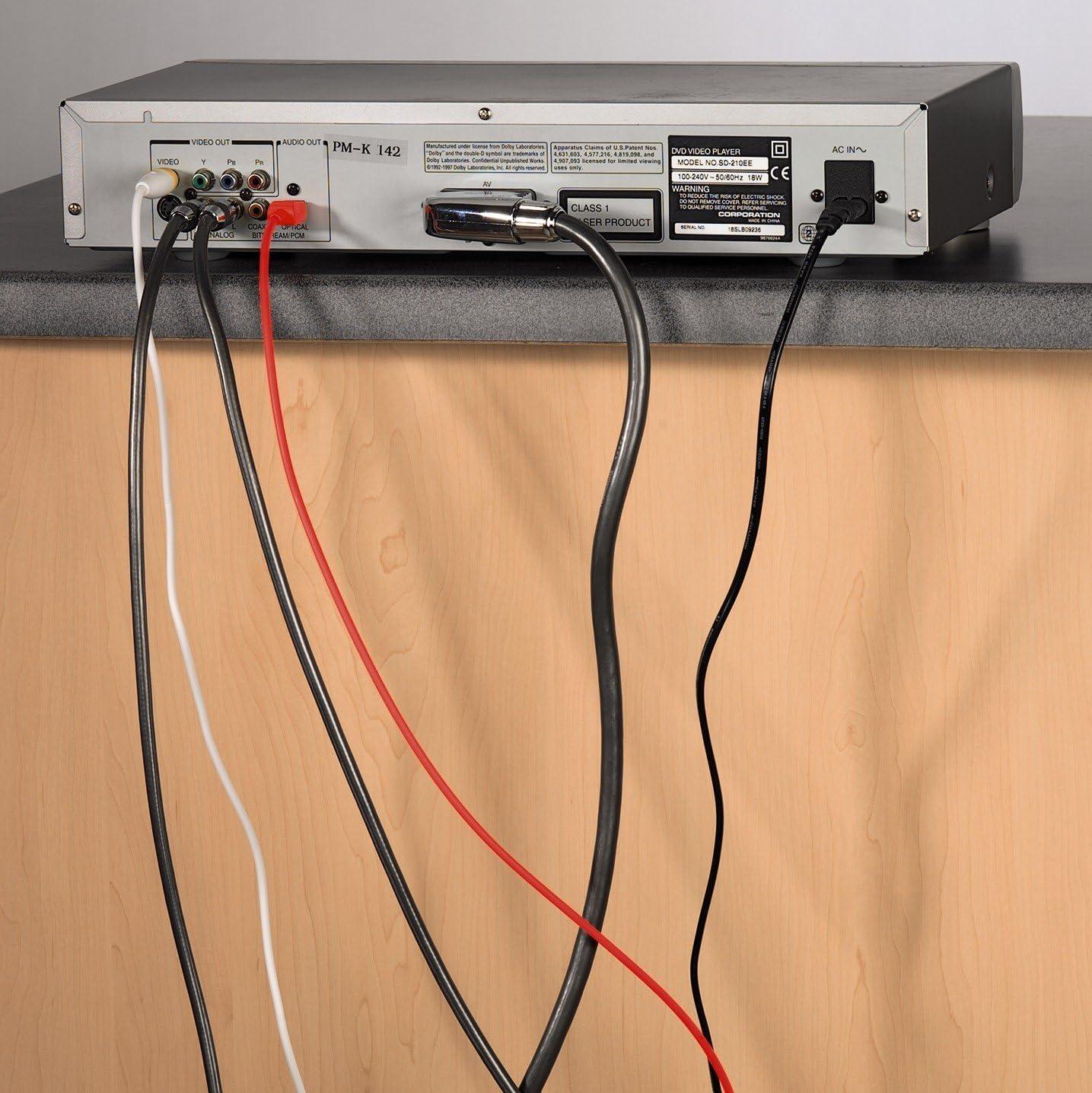 Hama Easy Clip - Pack de 10 organizadores de Cable, Negro ...