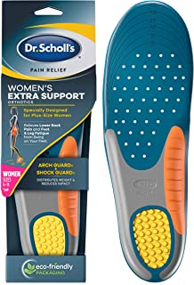 Dr. Scholl's Insoles for Women EXTRA SUPPORT Pain Relief Orthotics Shoe Inserts | Designed for Plus-Size Women