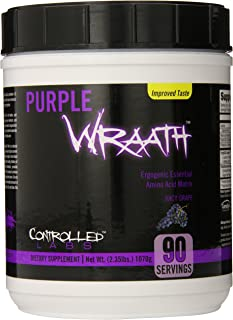 Purple Wraath by Controlled Labs, BCAA and EAA Amino Acid Supplement, 45 or 90 Servings with Endurance Blend Intra Workout...