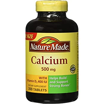 Nature Made Calcium 500mg with Vitamin D 400 IU, Tablets 300 each